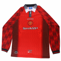 Manchester United Retro Soccer Jersey Home Long Sleeve Replica 1996/97