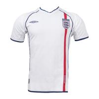England Retro Soccer Jersey Home Replica World Cup 2002