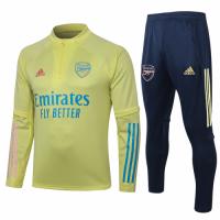 20/21 Arsenal Yellow Zipper Sweat Shirt Kit(Top+Trouser)