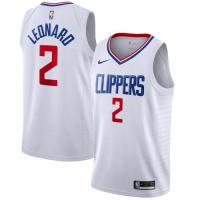 Men's LA Clippers Kawhi Leonard No.2 White 19-20 Swingman Jersey - Association Edition