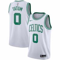 Men's Boston Celtics Jayson Tatum No.0 White Swingman Jersey - Icon Edition