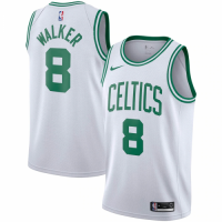 Men's Boston Celtics Kemba Walker No.8 White 19-20 Swingman Jersey - Association Edition