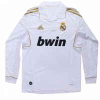 Real Madrid Retro Soccer Jersey Home Long Sleeve Replica 2011/12