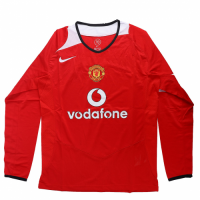Manchester United Soccer Jersey Home Long Sleeve Retro Replica 2005/06