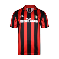 88/89 AC Milan Home Red Retro Soccer Jerseys Shirt