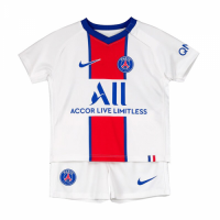 20/21 PSG Away White Children's Jerseys Kit(Shirt+Short)