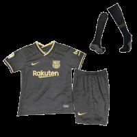 Barcelona Kids Soccer Jersey Away Whole Kit (Shirt+Short+Socks) 2020/21