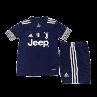 Juventus Kids Soccer Jersey Away Kit (Shirt+Short) 2020/21