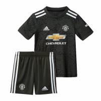 20/21 Manchester United Away Black Children's Jerseys Kit(Shirt+Short)