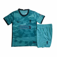 20/21 Liverpool Away Green Children's Jerseys Kit(Shirt+Short)