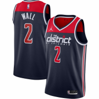 Men's Washington Wizards John Wall No.2 Jordan Brand Navy 202021 Swingman Jersey - Statement Edition
