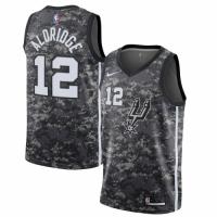 Men's San Antonio Spurs LaMarcus Aldridge No.12 Nike Black City Edition Swingman Jersey