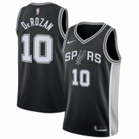 Men's San Antonio Spurs DeMar DeRozan No.10 Nike Black Icon Swingman Jersey