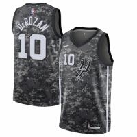 Men's San Antonio Spurs DeMar DeRozan No.10 Nike Black City Edition Swingman Jersey
