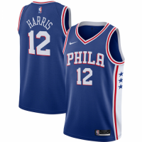 Men's Philadelphia 76ers Tobias Harris No.12 Nike Royal 202021 Swingman Jersey - Icon Edition