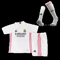 Real Madrid Kids Soccer Jersey Home Whole Kit (Shirt+Short+Socks) 2020/21