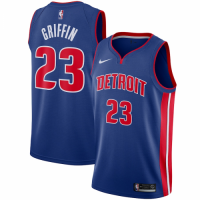 Men's Detroit Pistons Blake Griffin No.23 Nike Blue Swingman Jersey - Icon Edition