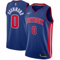 Men's Detroit Pistons Andre Drummond No.0 Nike Blue Swingman Jersey - Icon Edition