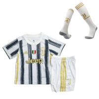 20/21 Juventus Home Black&White Children's Jerseys Whole Kit(Shirt+Short+Socks)