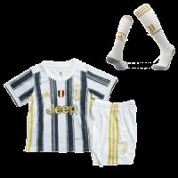 Juventus Kids Soccer Jersey Home Whole Kit (Shirt+Short+Socks) 2020/21