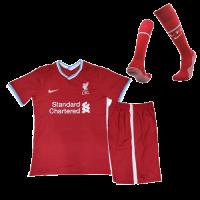 Liverpool Kids Soccer Jersey Home Whole Kit (Shirt+Short+Socks) 2020/21
