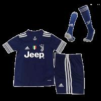 Juventus Kids Soccer Jersey Away Whole Kit (Shirt+Short+Socks) 2020/21