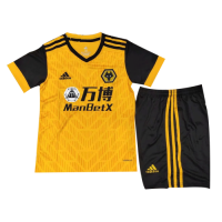 20/21 Wolverhampton Wanderers Home Yellow&Black Children's Jerseys Kit(Shirt+Short)