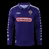 Fiorentina Retro Soccer Jersey Home Long Sleeve Replica 1998/99