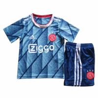 20/21 Ajax Away Blue Children's Jerseys Kit(Shirt+Short)