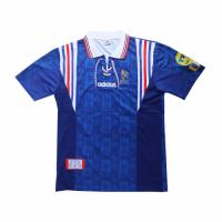 France Retro Soccer Jersey Home Replica Euro Cup 1996