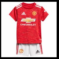 20/21 Manchester United Home Red Children's Jerseys Kit(Shirt+Short)