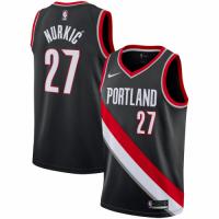 Men's Portland Trail Blazers Jusuf Nurkic No.27 Nike Black Replica Swingman Jersey - Icon Edition