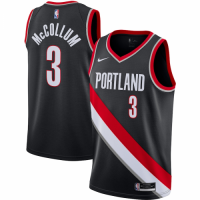 Men's Portland Trail Blazers C.J. McCollum No.3 Nike Black 202021 Swingman Jersey - Icon Edition