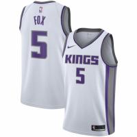 Men's Sacramento Kings De'Aaron Fox No.5 Nike White Replica Swingman Jersey - Association Edition