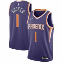 Men's Phoenix Suns Devin Booker No.1 Nike Purple 2020/21 Swingman Jersey - Icon Edition
