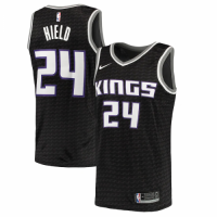 Men's Sacramento Kings Buddy Hield No.24 Nike Black Swingman Jersey Statement Edition