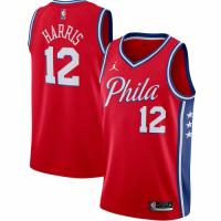 Men's Philadelphia 76ers Tobias Harris No.12 Jordan Brand Red 202021 Swingman Jersey - Statement Edi