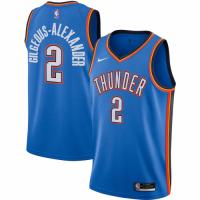 Men's Oklahoma City Thunder Gilgeous-Alexander No.2 Nike Blue 20/21 Swingman Jersey- Icon Edition