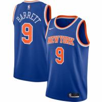 Men's New York Knicks RJ Barrett No.9 Nike Blue 202021 Swingman Jersey - Icon Edition