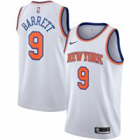 Men's New York Knicks RJ Barrett No.9 Nike White 20192020 Swingman Jersey - Association Edition