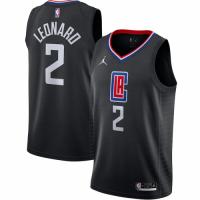 Men's LA Clippers Kawhi Leonard No.2 Jordan Brand Black 202021 Swingman Jersey - Statement Edition