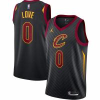 Men's Cleveland Cavaliers Kevin Love No.0 Jordan Brand Black 202021 Swingman Jersey - Statement Edit