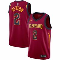 Men's Cleveland Cavaliers Collin Sexton No.2 Nike Wine Swingman Jersey