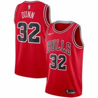 Men's Chicago Bulls Kris Dunn No.32 Nike Red Replica Swingman Jersey - Icon Edition