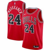 Men's Chicago Bulls Lauri Markkanen No.24 Nike Red 202021 Swingman Jersey - Icon Edition