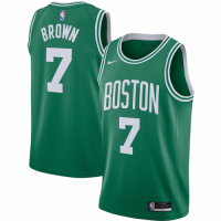 Men's Boston Celtics Jaylen Brown No.7 Nike Kelly Green 202021 Swingman Jersey - Icon Edition
