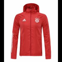 20/21 Bayern Munich Red Windbreaker Hoodie Jacket