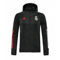 20/21 Real Madrid Black Windbreaker Hoodie Jacket