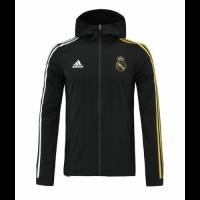 20/21 Real Madrid Black&Golden Windbreaker Hoodie Jacket