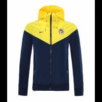 20/21 Club America Navy&Yellow Windbreaker Hoodie Jacket